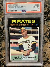1971 TOPPS ROBERTO CLEMENTE CARD NUMBER #630 PSA 4 VG-EX