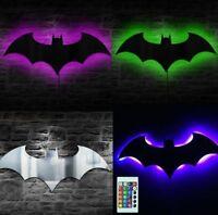 Batman Logo Mirror RGB USB Batman LED Mirror Eclipse Light LED Silhouette Lamp