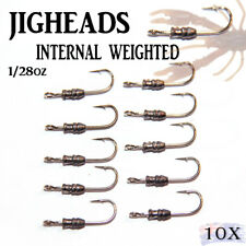 10x 1/28oz Internal Weight Jig Heads Lures Soft Plastics Bullet Nitro Gulp Bream