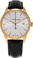 Alexander Heroic Sophisticate Black Leather Stainless Mens Watch A911-07