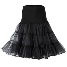 US Women's Vintage Petticoat 50s Rockabilly Tutu Skirt Underskirt Crinoline Slip