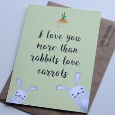 Funny Birthday Card | Rabbits love carrots | Humour | Greeting Card