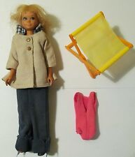 """1967 Mattel Skipper 9"""" Japan Doll with Blonde Hair, Outfit, and Accessories"""