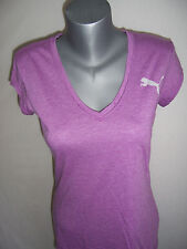 TEE SHIRT femme col V PUMA neuf taille 40 coloris violet hyacinthe