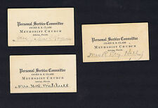 1930s Methodist Church Sebring, Florida Co-Ed Sunday School Calling Cards