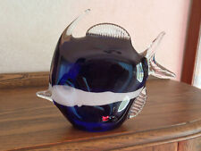 Cobalt Blue Glass Angel Fish Figurine
