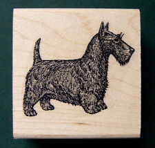 "Larger Scotty dog rubber stamp WM 1.75x1.3""  P34"