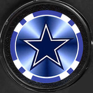 A DALLAS COWBOYS HELMET STAR POKER CHIP CARD PROTECTOR