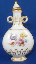 Antique Meissen Porcelain Floral Perfume Scent Bottle Porzellan Flakon Flacon