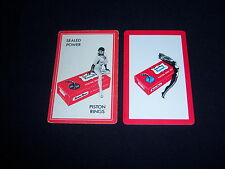 (2) single Kromex Piston Rings playing cards - Vintage - surreal Pin Up promos
