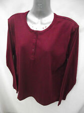 BNWOT Womens Sz 10 Rich Burgundy Grandpa Style Long Top