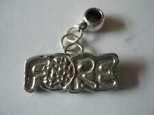 Fore TG7 Golfing Charm with 5mm Hole fit Charm Bracelet