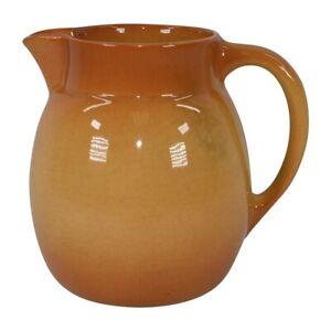 Roseville Pottery Utility Ware 1953 Orange Mid Century Modern Pitcher 16