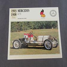 650C Edito Foglio Di Servizio Pieghevole Mercedes 60/70 Course 1903