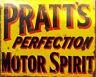 Pratt's Perfection Motor Spirit Advert VINTAGE ENAMEL METAL TIN SIGN WALL PLAQUE