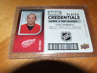 2017-18 UD MVP NHL Credentials Level 1 VIP Access Steve Yzerman
