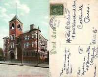 HOMESTEAD PA HIGH SCHOOL ANTIQUE POSTCARD
