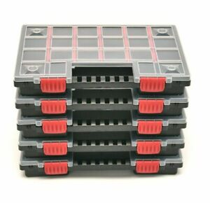5x Sortimentskasten Sortierbox Set Werkzeugorganizer Kiste Kleinteilemagazin