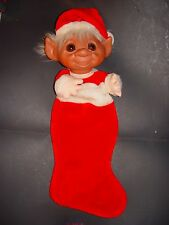"Troll Doll 24"" Norfin Dam Large Christmas Holiday Santa Stocking"
