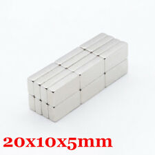 5pcs Neodymium Block Square Magnet Strong Rare Earth Large Magnets 20mm Length