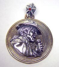Michael Jackson disk silver pendant