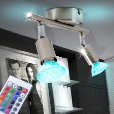 7 Watt LED Farbwechsel Deckenleuchte Fernbedienung Deckenspot Dimmer Strahler