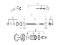 Shimano FH-T660 complete freewheel body