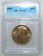 1967 Kennedy Silver Half Dollar, ICG MS66, RARE HIGH GRADE, NICE COIN!