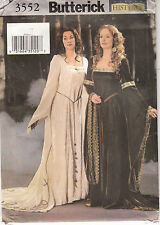 Medieval Renaissance Costume Miss 12 14 16 Butterick Sewing Pattern Uncut 3552