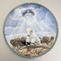 WHITE BUFFALO CALF WOMAN Plate Diana Stanley #3212A Bradford Exchange 1995