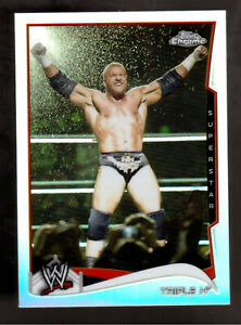 2014 TOPPS CHROME WWE #51 TRIPLE H REFRACTOR