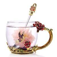 Coffee Mug Tea Cup Novelty creative 3D Flower Rose Mugs Gift for women