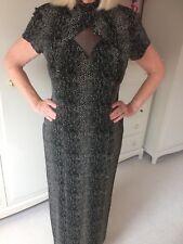 Joseph Ribkoff Long Keyhole Dress Size 12 B&W 'Animal' Print
