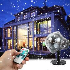 UK Laser Xmas Falling Snow Christmas Lamp Projector Light Snowflake Snowing