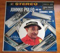 Vtg 50s Johnny Puleo & His Harmonica Gang Vol 2 Vinyl LP AFSD 5859 FREE SHIP NM