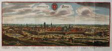 POLEN POMMERN DANZIG GDANSK DANTISCUM WAPPEN KOLORIERT MERIAN TOPOGRAPHIA 1650
