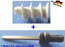 50 Stück Gipskarton-Dübel aus Nylon ohne Spitze + 1 Setzwerkzeug, Hohlraumdübel
