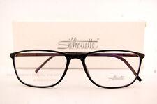New Silhouette Eyeglass Frames SPX ILLUSION 2888 6050 Black Women Men SZ 55