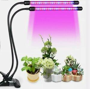 2 Head LED Plants Grow Light for Indoor UV Veg Growing Lamp USB Full Spectrum