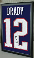 """Tom Brady Shirt Framed Canvas Tribute Signed """"Great Gift"""""""