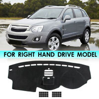 Dashboard Sun Cover Dashmat Dash Mat Pad Black For Holden Captiva 7 2006-2018