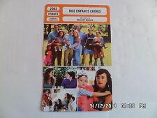 CARTE FICHE CINEMA 2003 NOS ENFANTS CHERIS Romane Bohringer Mathieu Demy L.Cote