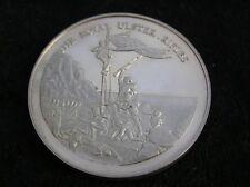 More details for solid silver medallion the royal ulster rifles regiment 45 grammes