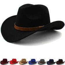 Men Women Kid Children Boy Girl Western Cowboy Hats Wide Brim Sunhat Panama Caps
