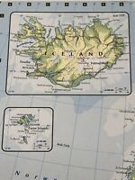 2007 Map Of Western Russian Federation, Iceland, Estonia Latvia Finland Poland