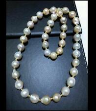 "Huge18""12-14mm South Sea genuine White Baroque Pearl Necklace  0888AAA"