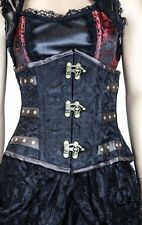 New listing Burleska steampunk C-Lock underbust corset in black scroll brocade PunkGoth sz32