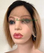lace front wig human hair bob Ombré Black And Golden Blonde Short Medium
