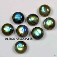 LABRADORITE RAINBOW EFFECT 10 MM ROUND CABOCHON CUT SOLD AS EACH