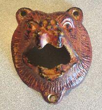 Bear head bottle opener to mount on wall